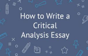 Writing a Critical Essay about Literature